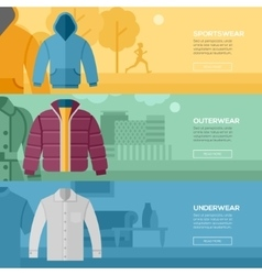 Flat design concept of every day clothes vector