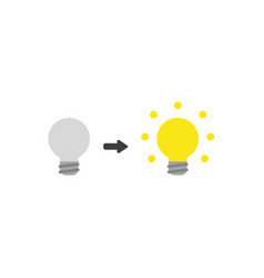 Flat design style concept of grey bad idea light vector