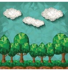 forest landscape design vector image