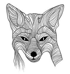 Fox animal sketch vector image vector image