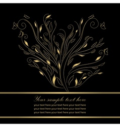 Gold wedding greeting card vector image vector image