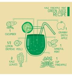 Green juice recipes great detoxify vector image vector image