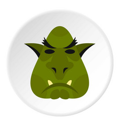 Head of troll icon circle vector