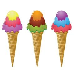 icecream cones vector image