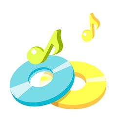 icon cds vector image vector image