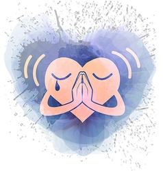 Icon heart that prays vector image vector image