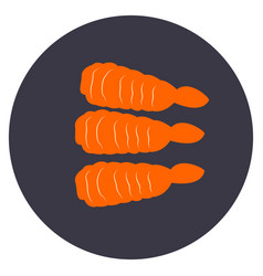 Isolated group of shrimps vector