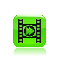 isolated video player vector image vector image