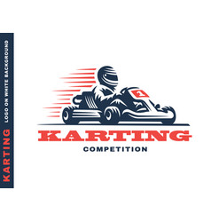 kart racing winner vector image