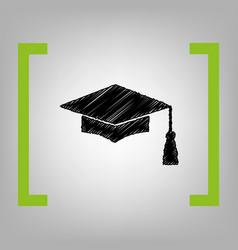 mortar board or graduation cap education symbol vector image vector image