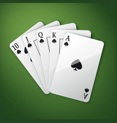 royal straight flush vector image vector image