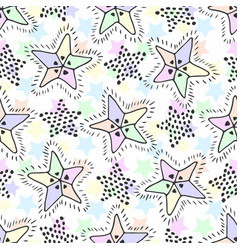 Stars seamless pattern in pastel colors childish vector