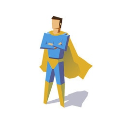 Super hero isolated minimalist design picture vector