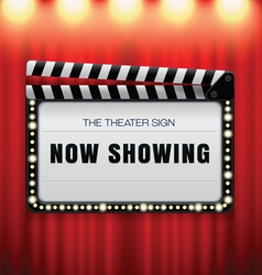Theater sign slate vector
