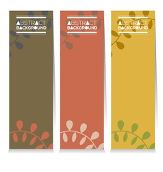 Vertical banner set of three graphic natural theme vector