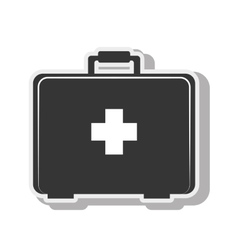 First aid kit medical design vector