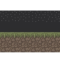 Pixel art sprite - stone dirt vector