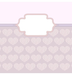 hearts made of roses valentine card vector image