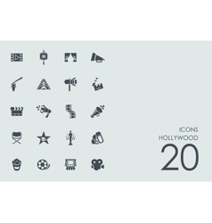 Set of hollywood icons vector