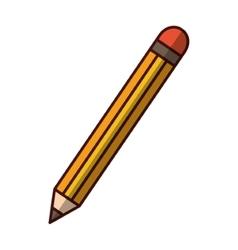 wooden pencil utensil vector image