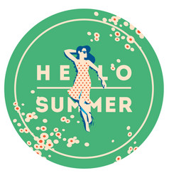 Summer holiday and summer camp poster vector