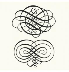 swirl patterns vector image