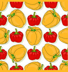 Seamless pattern with yellow and red sweet bell vector