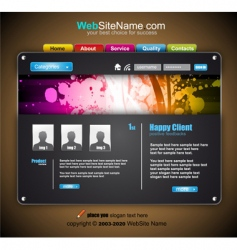 Modern abstract colorful website template vector
