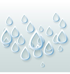 Background of blue paper carved drops vector