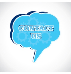 Contact us message bubble vector