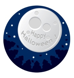 Cartoon with scary moon vector