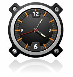 watch with black dial vector image