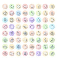 Icons for food and drinks vector