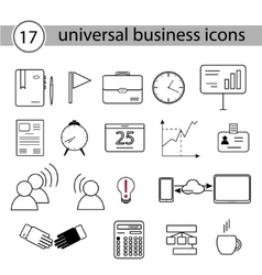 Set of universal business icons vector