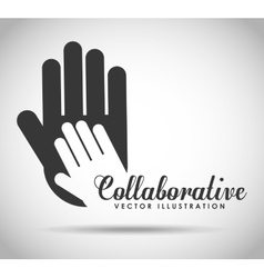 Collaborative hands design vector