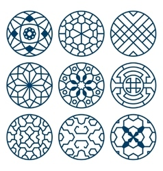 Chinese korean traditional repeat symbols vector image