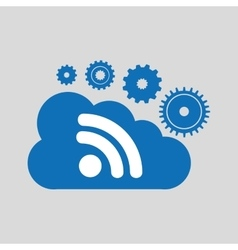 Cloud network wifi technology connection design vector