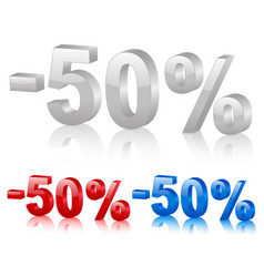 discount symbol fifty percentage vector image vector image