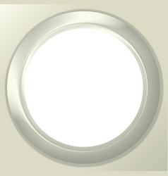 Frame porthole on white background vector image vector image