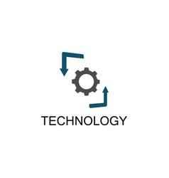 gear technology arrow logo vector image vector image