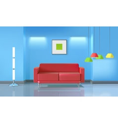 Living room realistic design vector