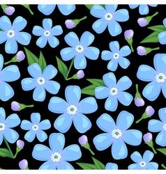 myosotis pattern black vector image
