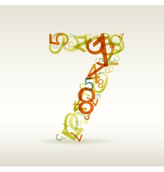 number seven vector image vector image