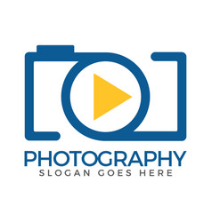 photo camera logo icon template vector image