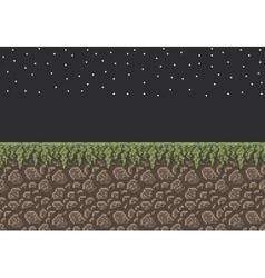 Pixel art sprite - stone dirt vector