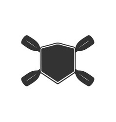 Rowing blank badge template for creating custom vector
