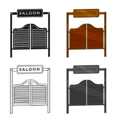 Saloon icon cartoon singe western icon from the vector