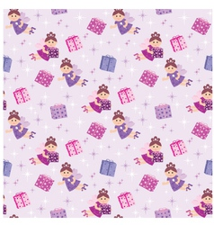 Seamless fairy pattern vector