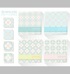 Set of colorful seamless patterns 3 vector