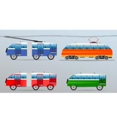 Set of vintage vehicles vector image